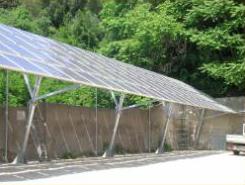 Pensiline a sbalzo fotovoltaiche